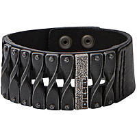 bracelet homme bijoux Diesel Leather/Steel DXM0579040
