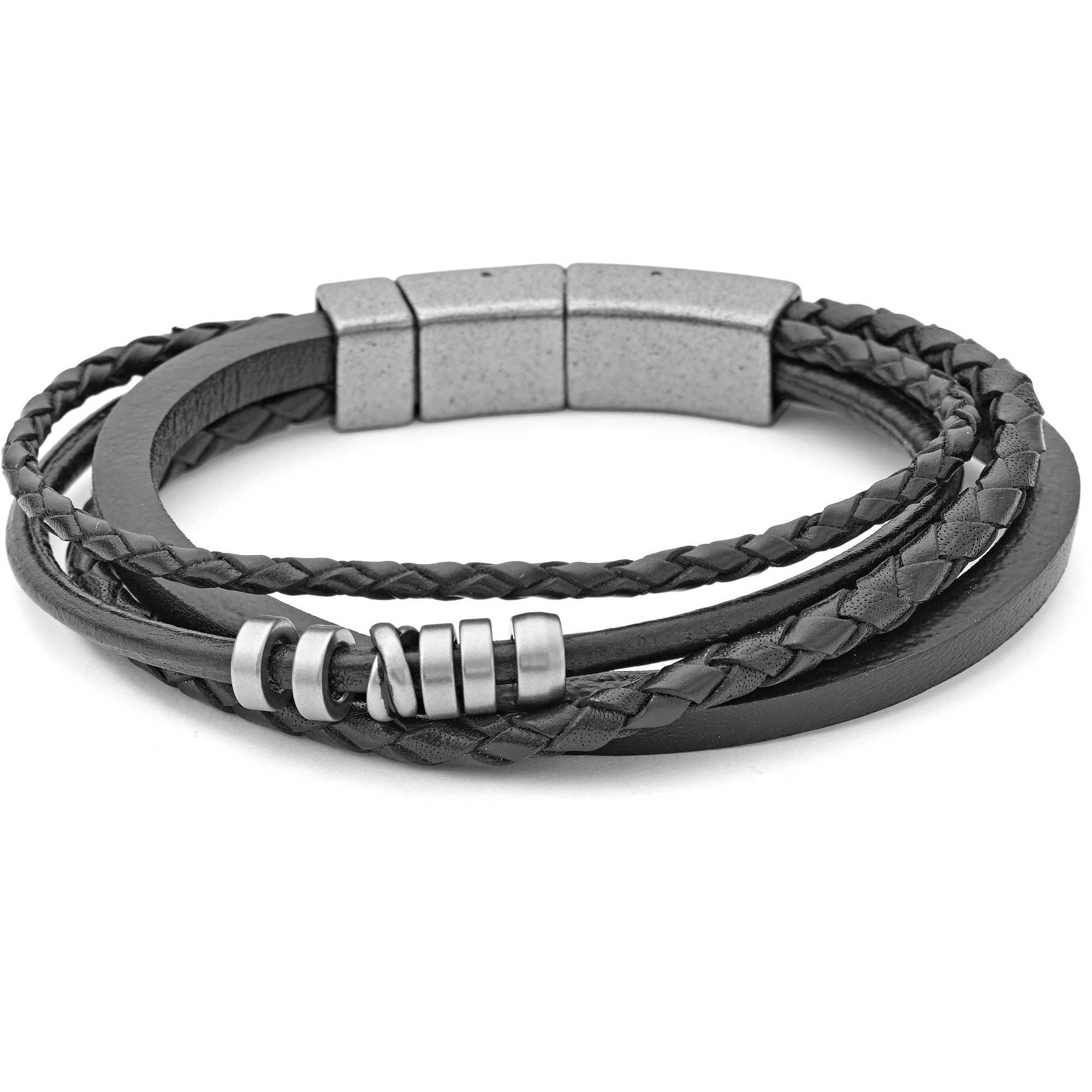 bracelet homme bijoux fossil jf85299040 bracelets fossil. Black Bedroom Furniture Sets. Home Design Ideas
