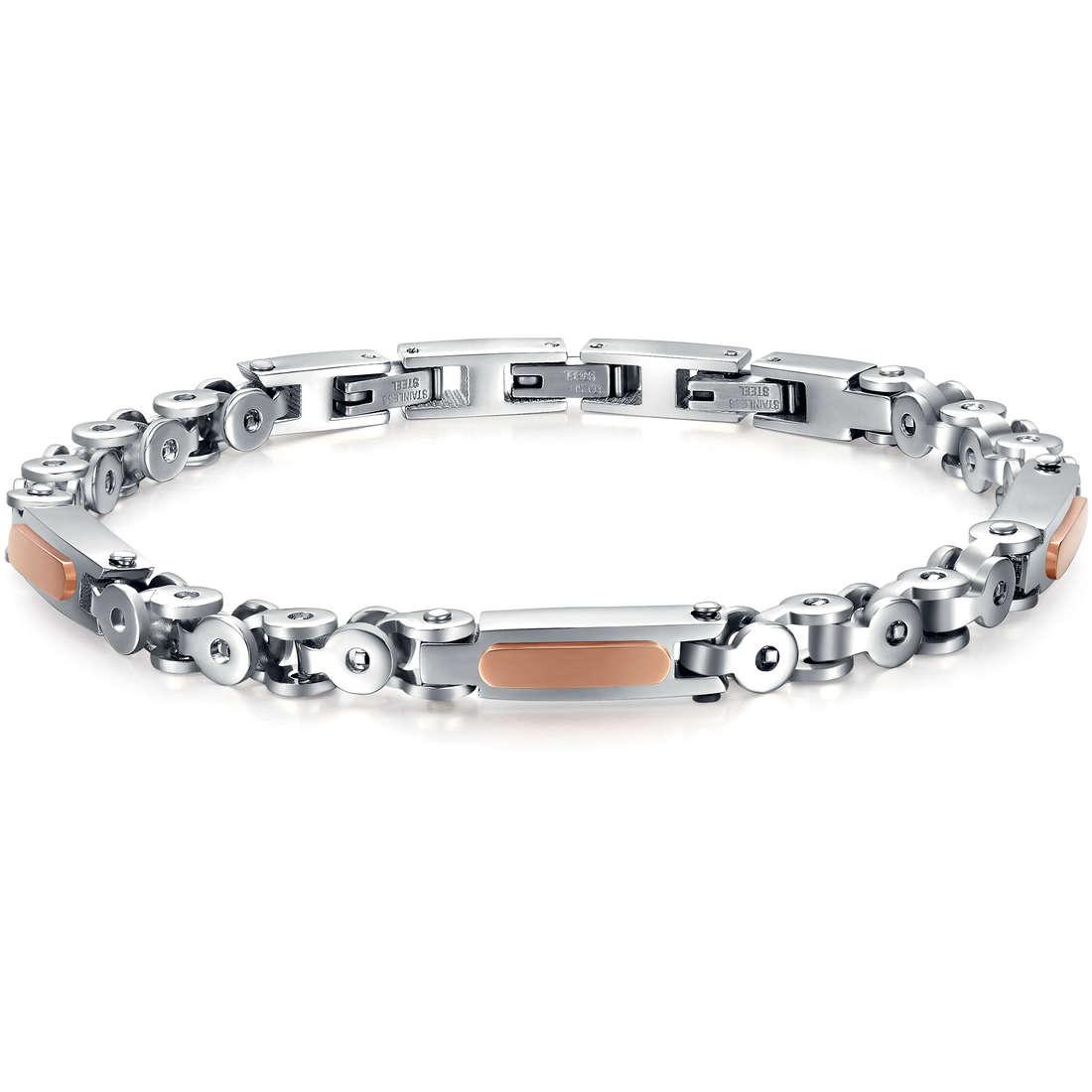 bracelet homme bijoux Luca Barra LBBA537