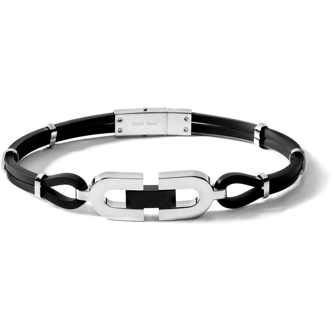 bracelet man jewellery Comete Acciaio UBR 192