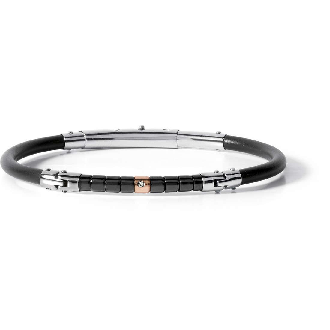 bracelet man jewellery Comete Acciaio UBR 508