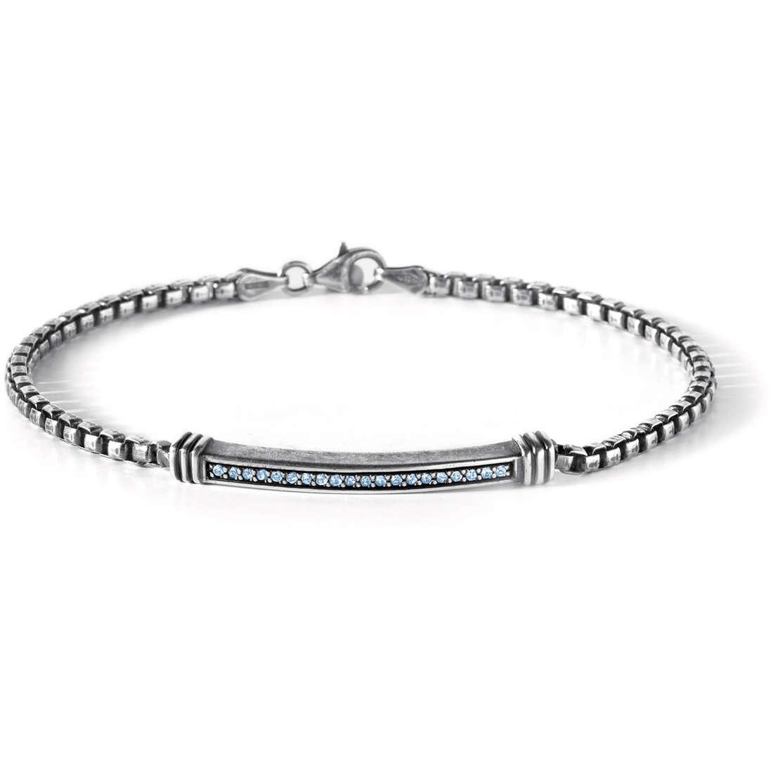bracelet man jewellery Comete Pietre preziose colorate UBR 442