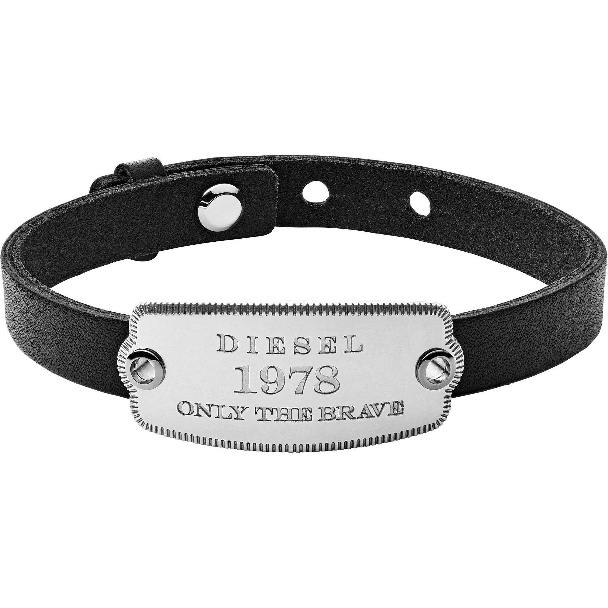 bracelet man jewellery Diesel Leather Steel DX1130040 bracelets ... fb4010b57d18