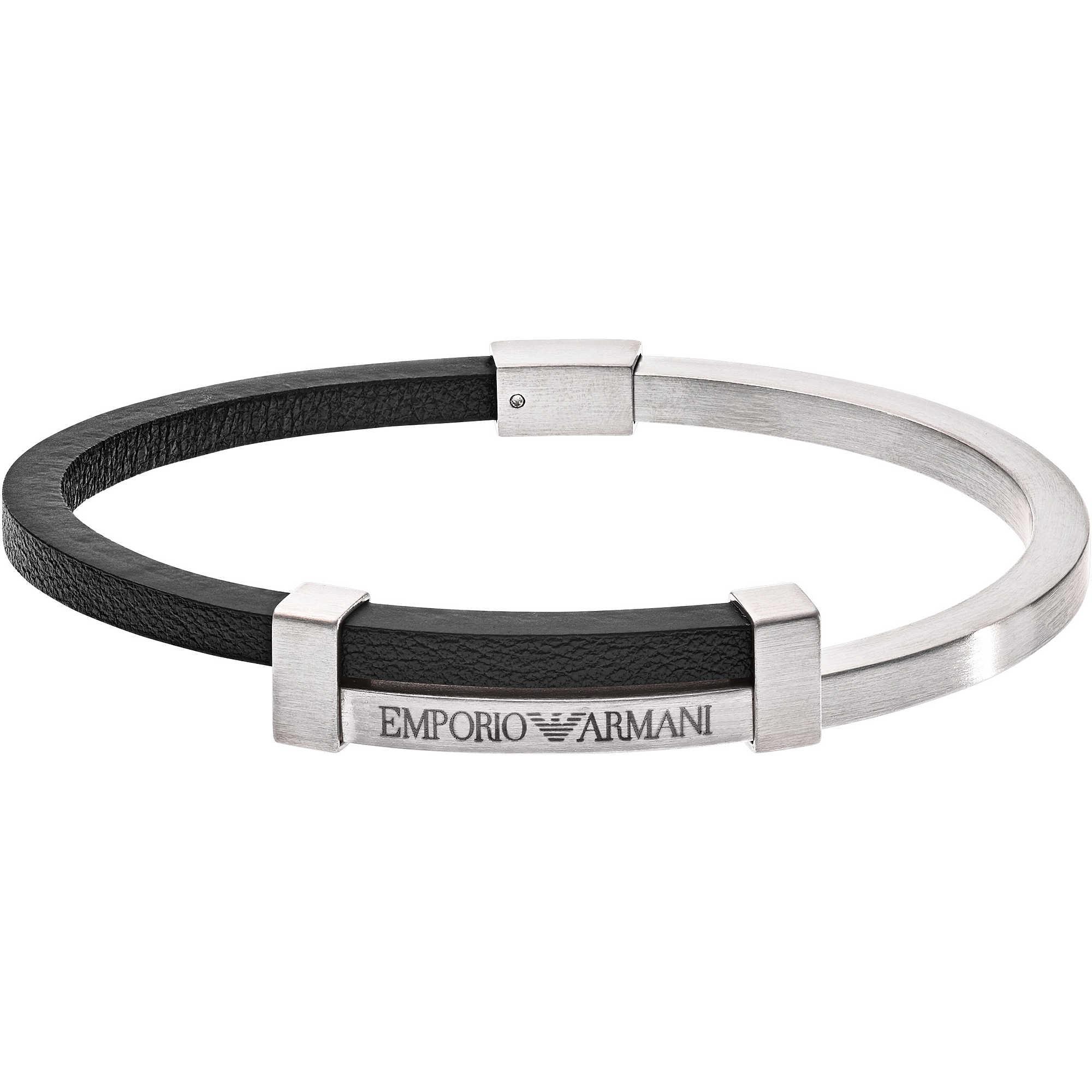 bracelet man jewellery Emporio Armani EGS2501040 bracelets Emporio ... c354a8fc315