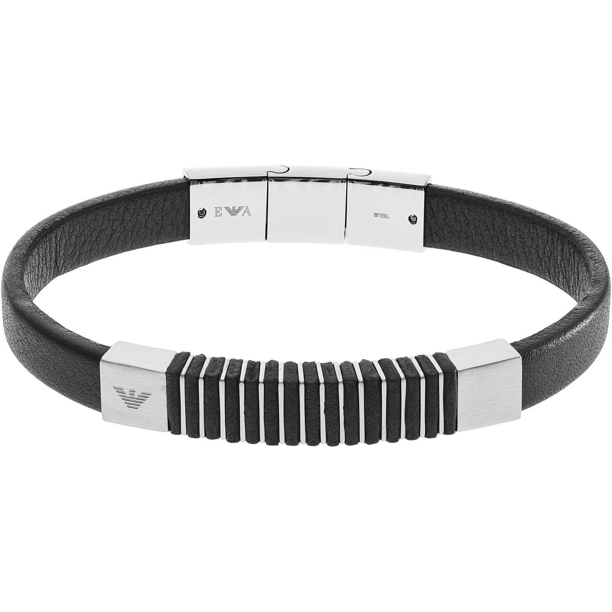 bracelet man jewellery Emporio Armani EGS2536040 bracelets Emporio ... 3e0a309b7d4