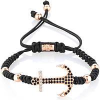 bracelet man jewellery Gerba Macramè BLACK ANCHOR