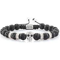 bracelet man jewellery Gerba Macramè SILVER SKULL