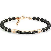 bracelet man jewellery Gerba Silver And Zircons BLACK ZIRCON SILVER