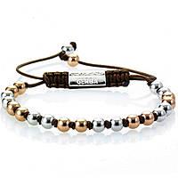 bracelet man jewellery Gerba Silver And Zircons DOUBLE BALL
