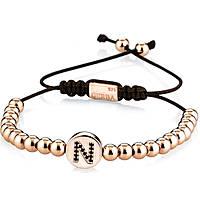 bracelet man jewellery Gerba Silver And Zircons NAME ROSÈ