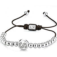 bracelet man jewellery Gerba Silver And Zircons NAME SILVER