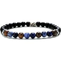 bracelet man jewellery Gerba Stone Classic BLACK JEANS