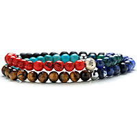 bracelet man jewellery Gerba Stone Classic COLORS DOUBLE