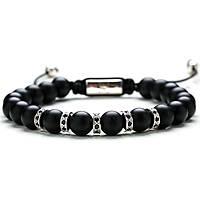 bracelet man jewellery Gerba Stone Classic MATTE SILVER