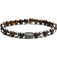 bracelet man jewellery Gerba Stone Classic SILVER BROWN