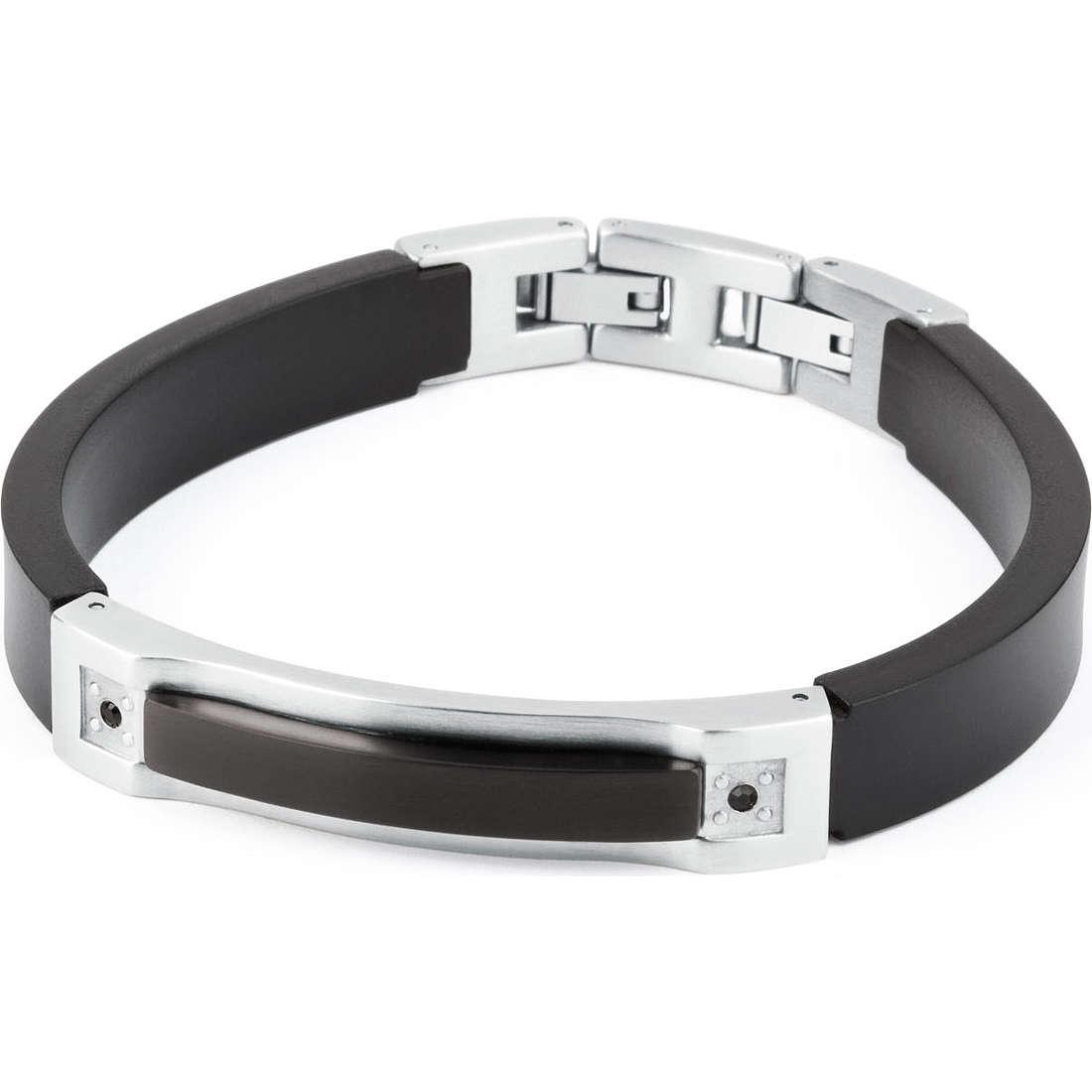 bracelet man jewellery Sagapò Black&White SBW03