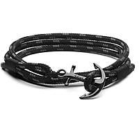bracelet man jewellery Tom Hope Triple Black TM0131
