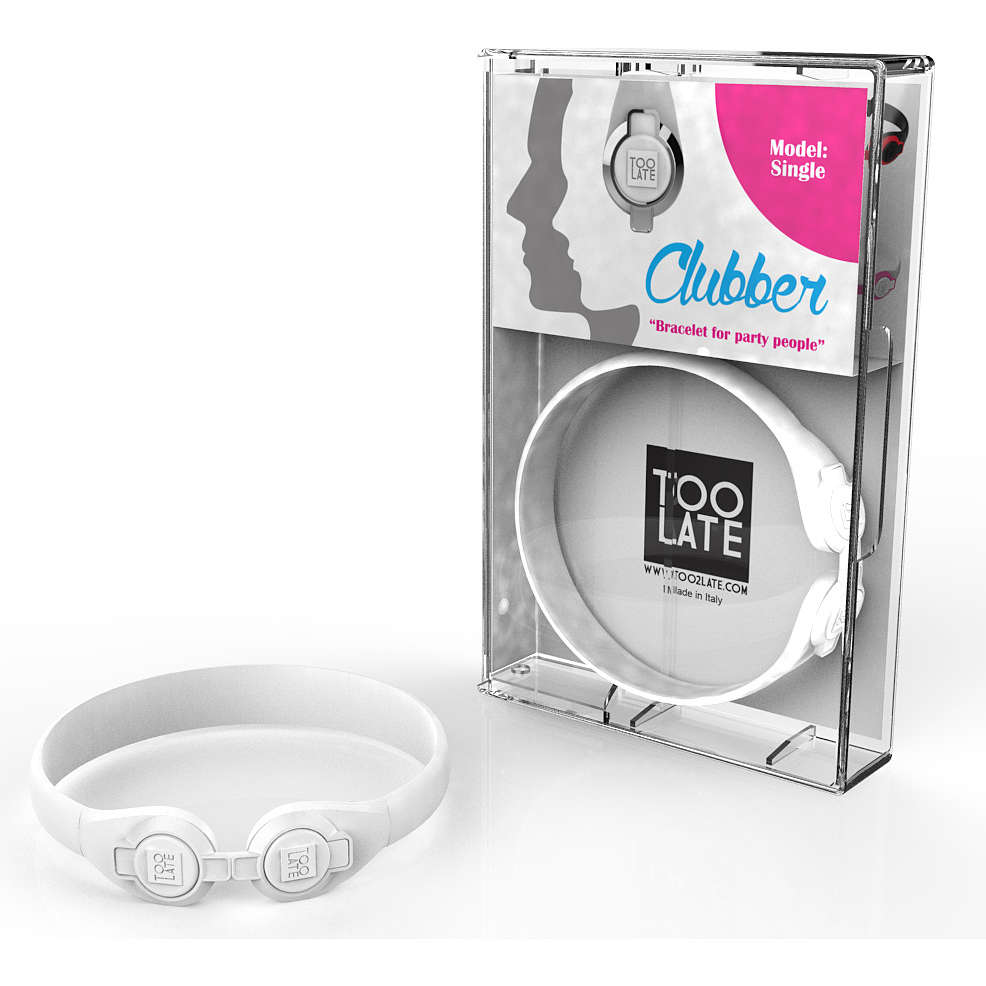 bracelet unisex bijoux Too late Clubber 8052745222430