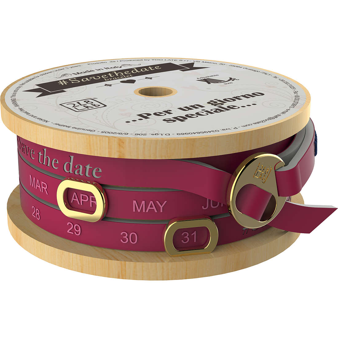 bracelet unisex jewellery Too late Save The Date 8052745223109