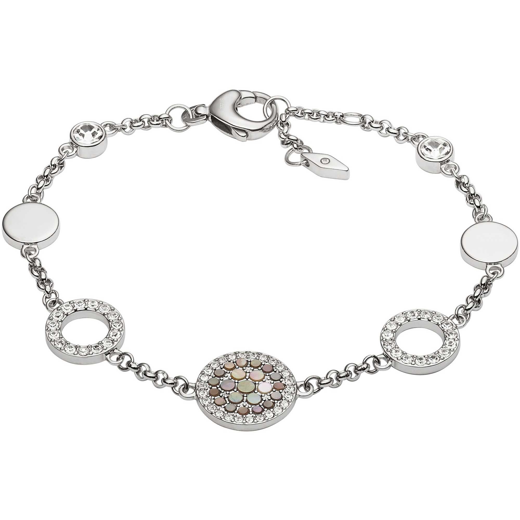Fossil Women's Silver Bracelet JF02562040 EkObtp