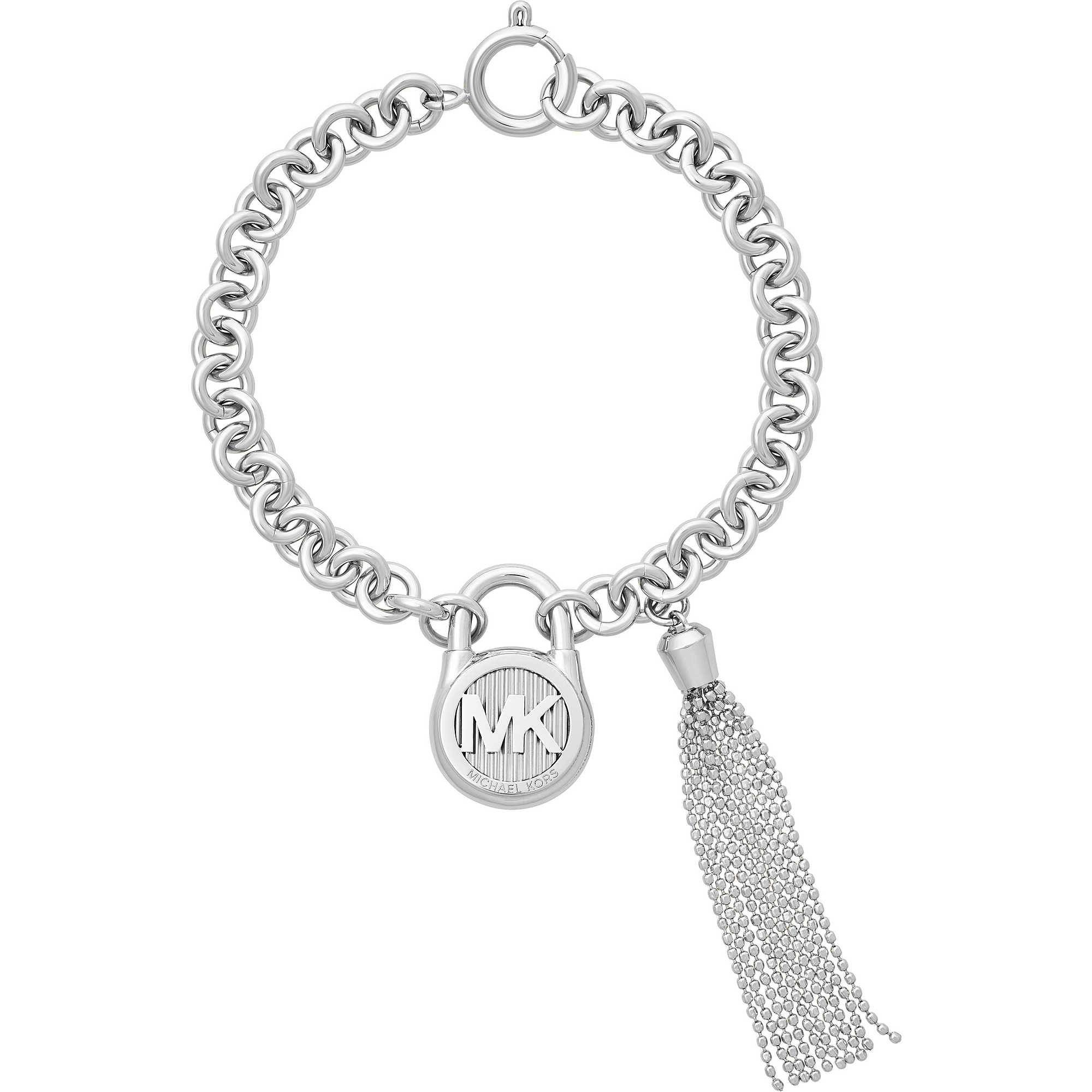 michael crystal kors bracelet flex logo cuff outlet goldtone gray tone p jewelry fit fashion gold