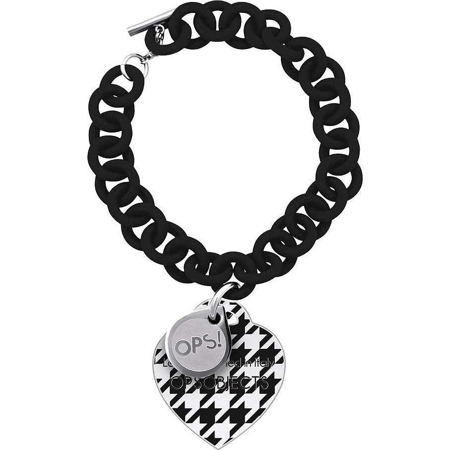 bracelet woman jewellery Ops Objects Ops! Pied De Poule OPSBR-162