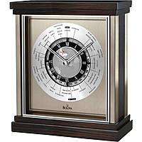 Bulova orologio da tavolo, fusi orari mondiali, BULB2258