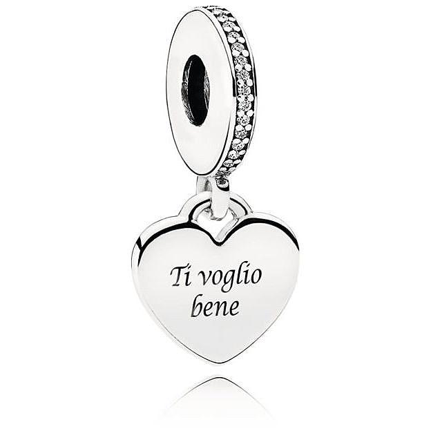 charm pandora cuore con anello