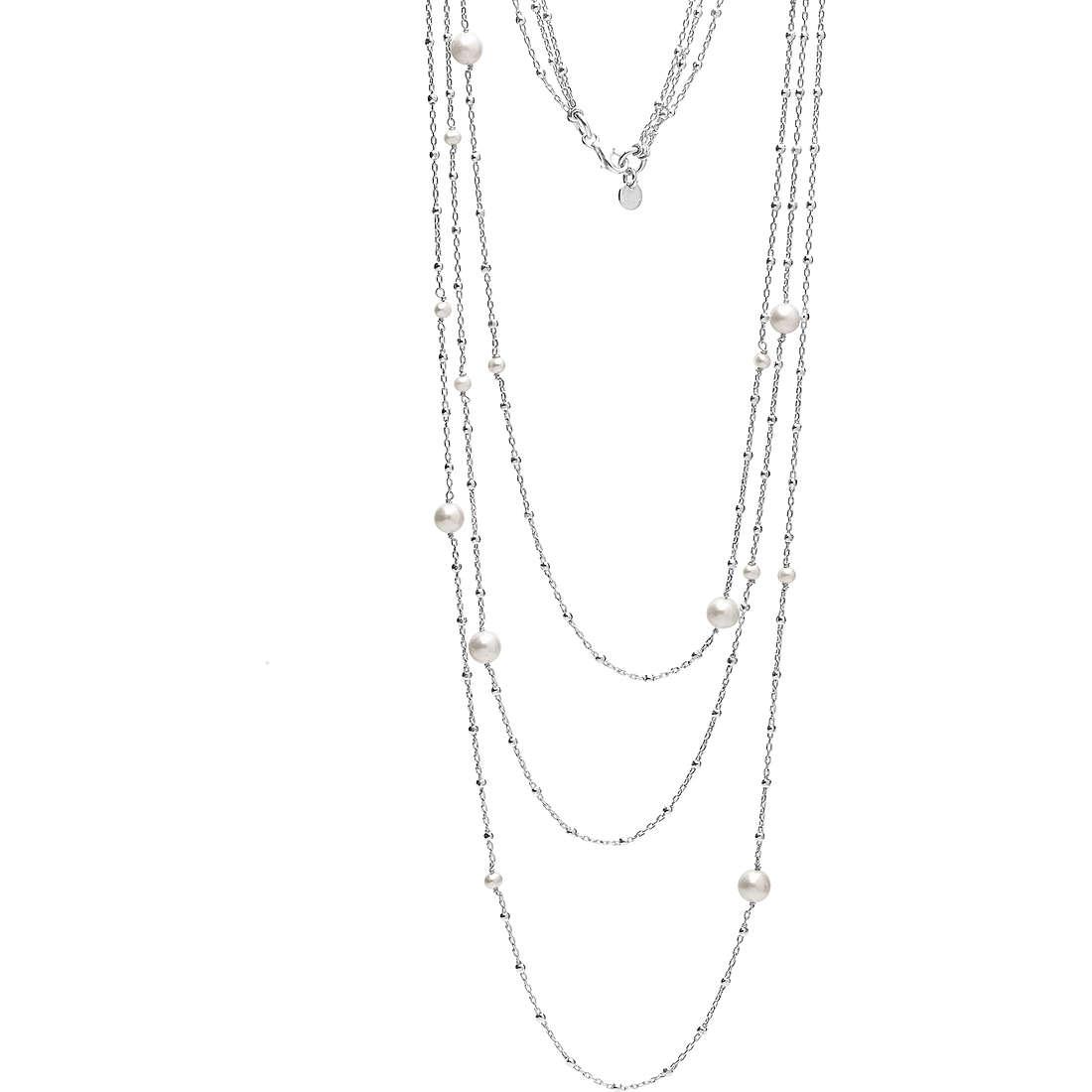 collana donna gioielli Ambrosia Black And White AAG 148