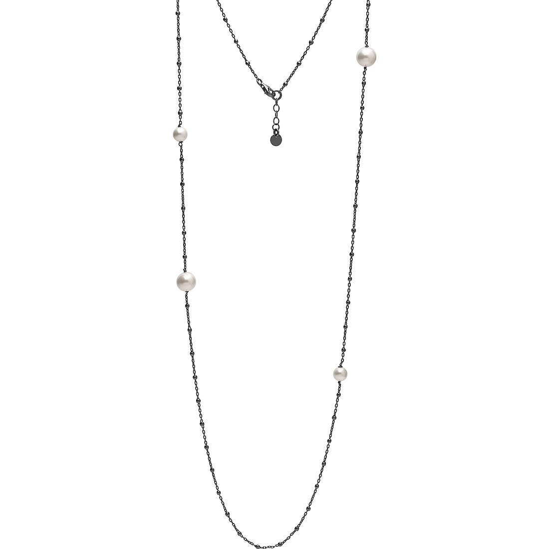 collana donna gioielli Ambrosia Black And White AAG 150