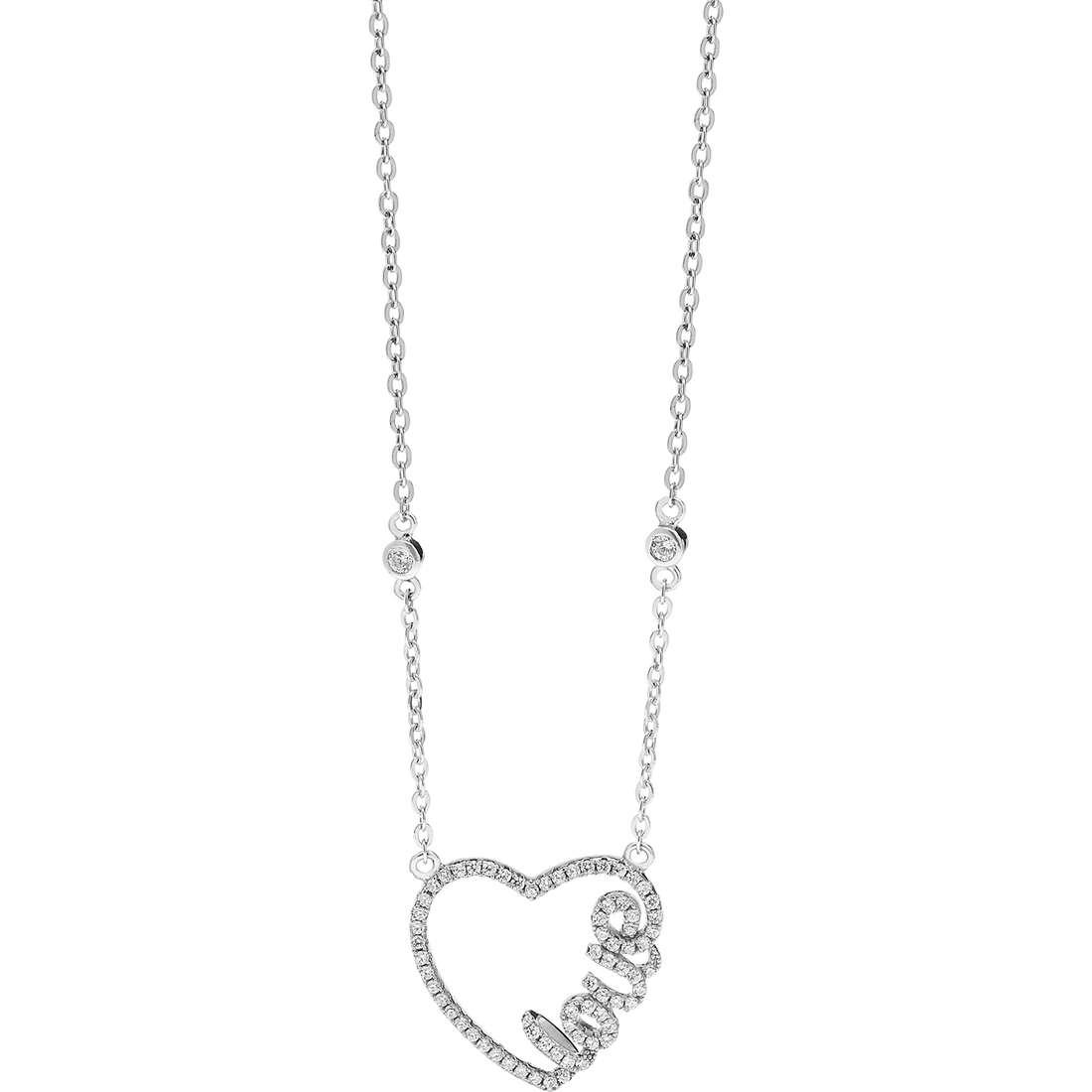 collana donna gioielli Ambrosia Glam Love AAG 162