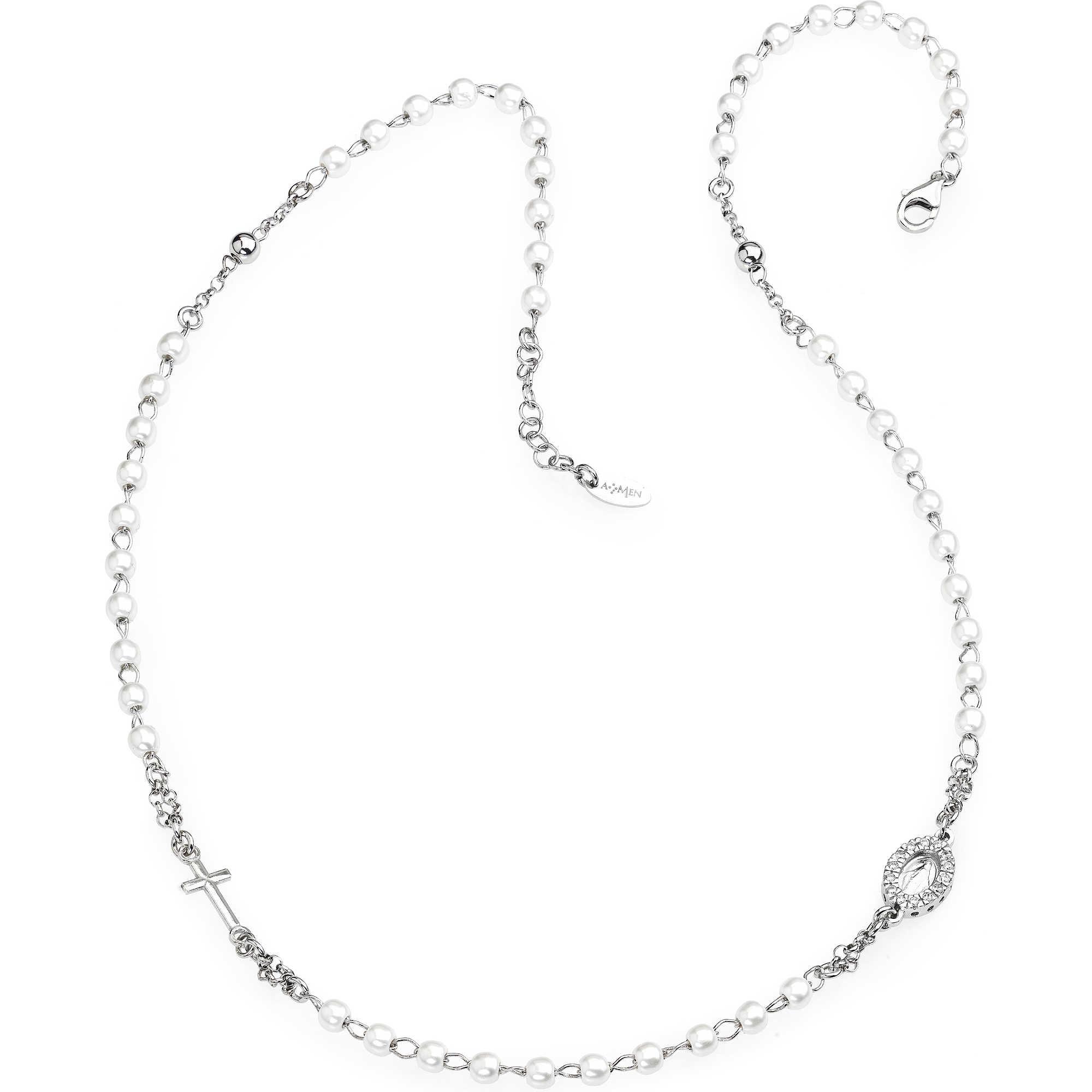 negozio online b6759 f82c6 collana donna gioielli Amen Rosario CROBBZ-M3