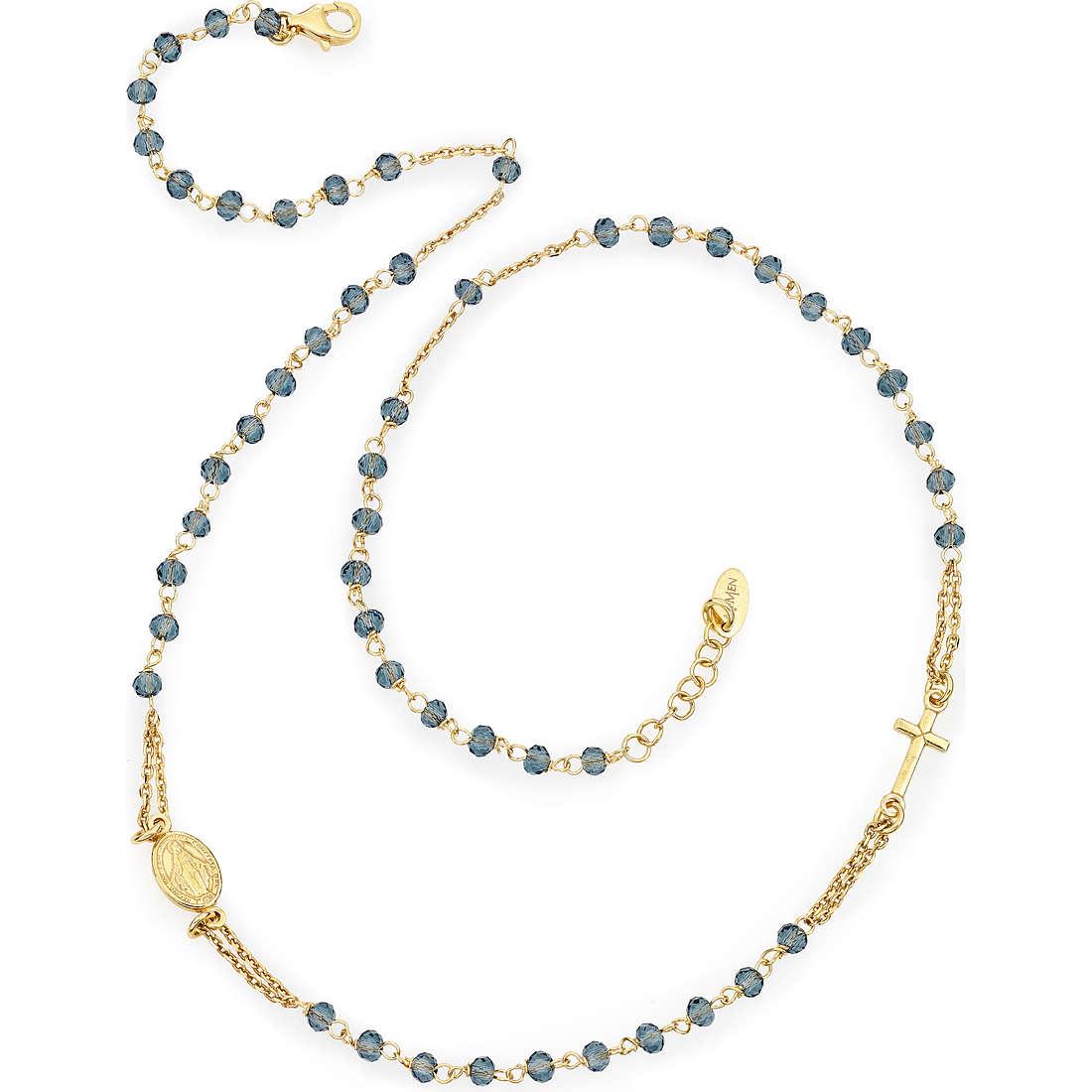 collana donna gioielli Amen Rosario CROGBL3
