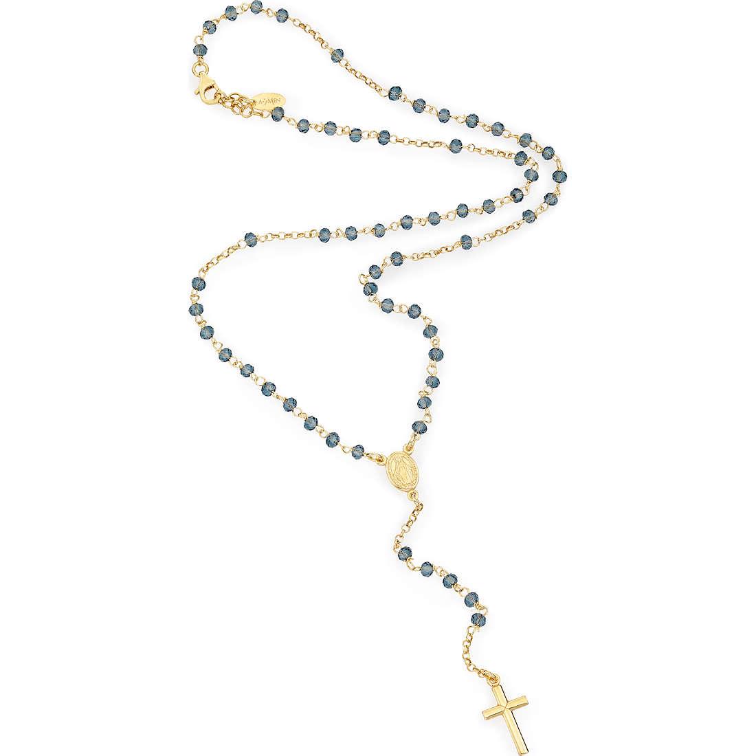 collana donna gioielli Amen Rosario CROGBL4