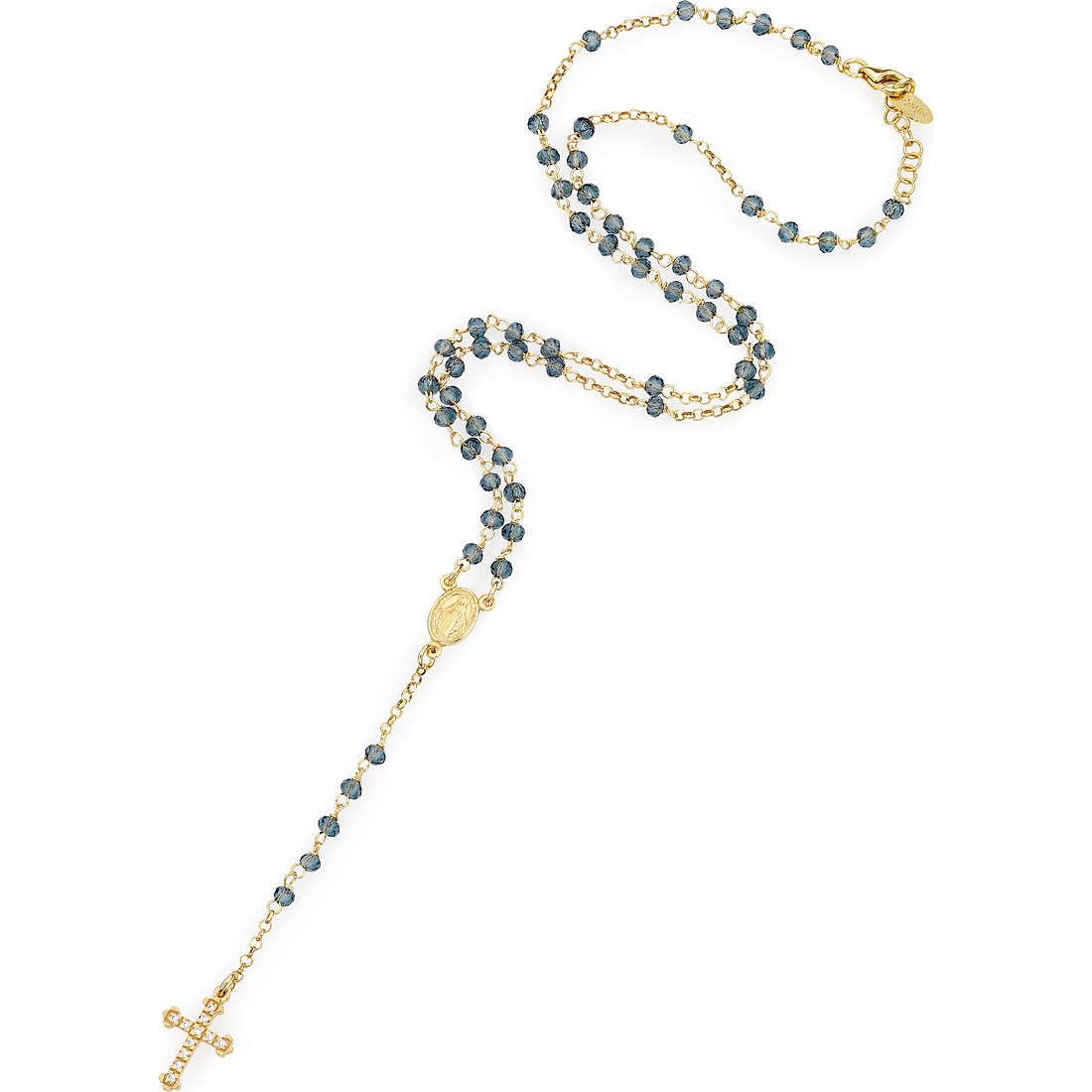 collana donna gioielli Amen Rosario CROGBLZ4