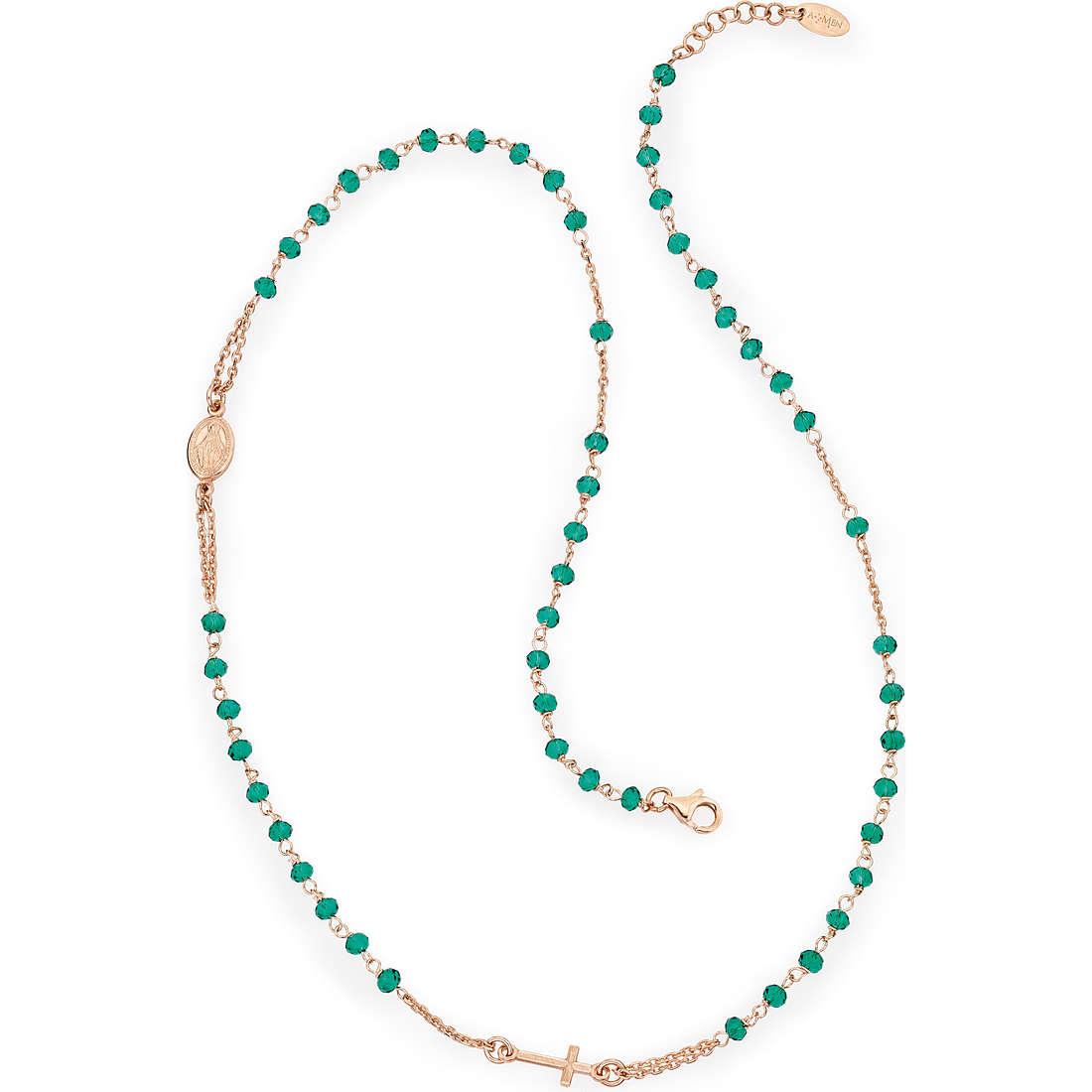 collana donna gioielli Amen Rosario CRORV3
