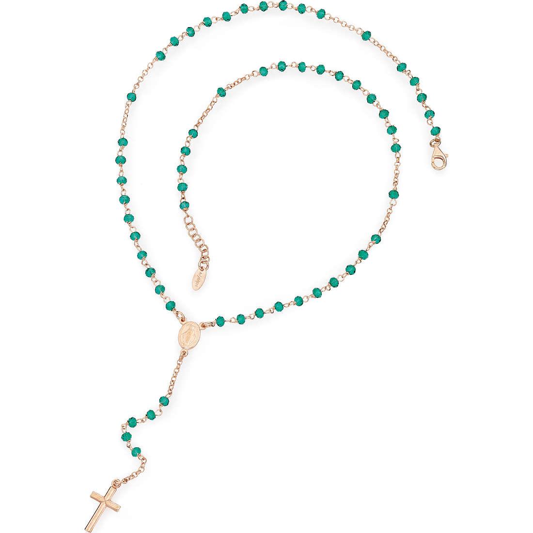 collana donna gioielli Amen Rosario CRORV4
