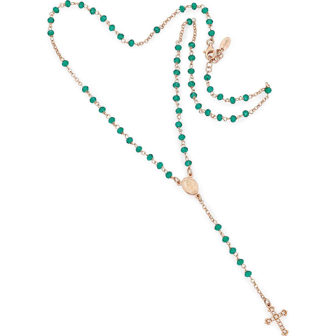 collana donna gioielli Amen Rosario CRORVZ4