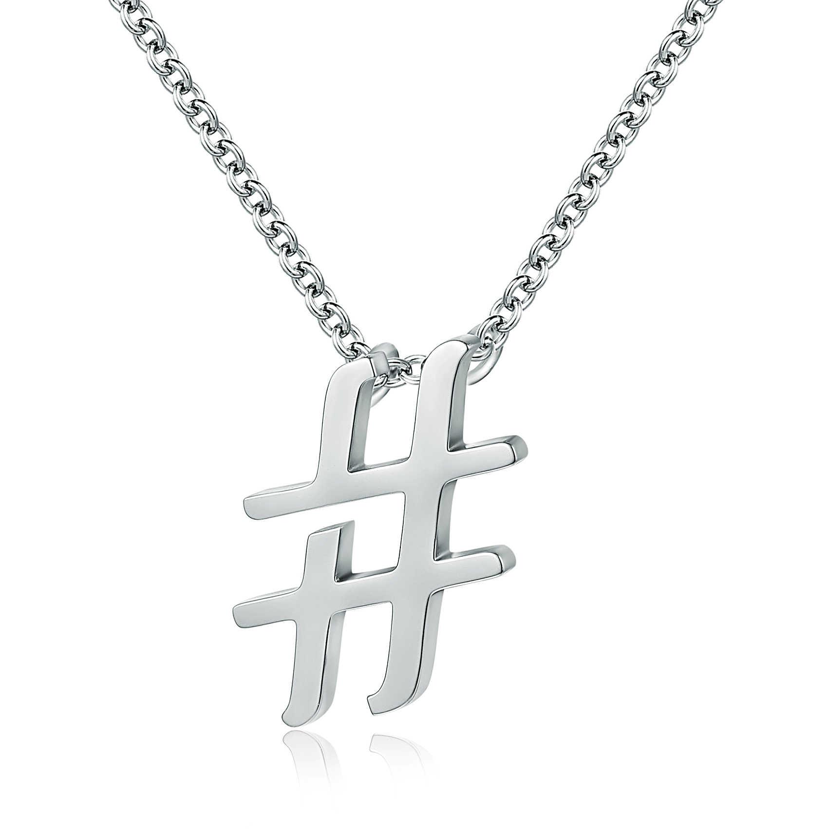 prezzo di strada economico in vendita un'altra possibilità collana donna gioielli Brand Hashtag 01NK001
