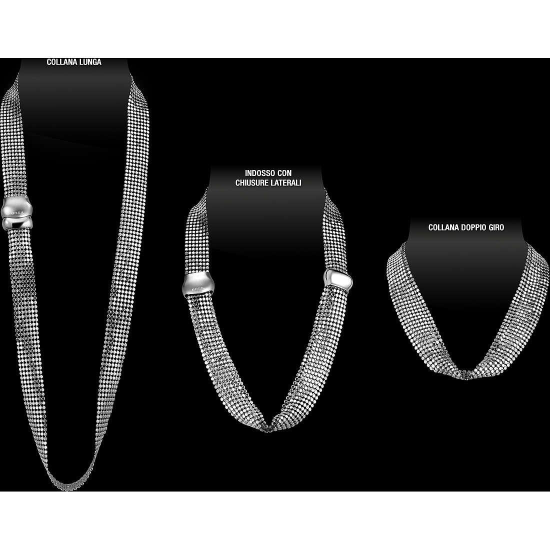 collana donna gioielli Breil Steel Silk TJ1268