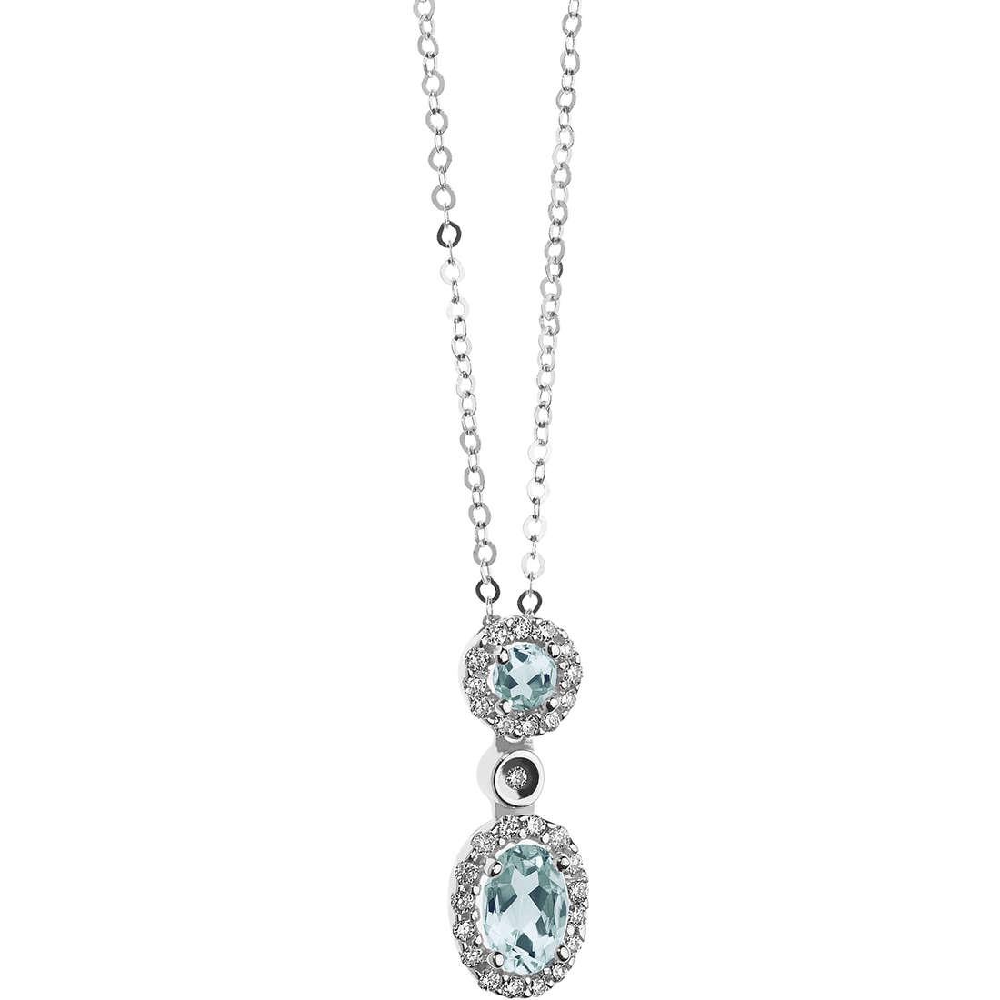 collana donna gioielli Comete Acquamarina GLQ 259