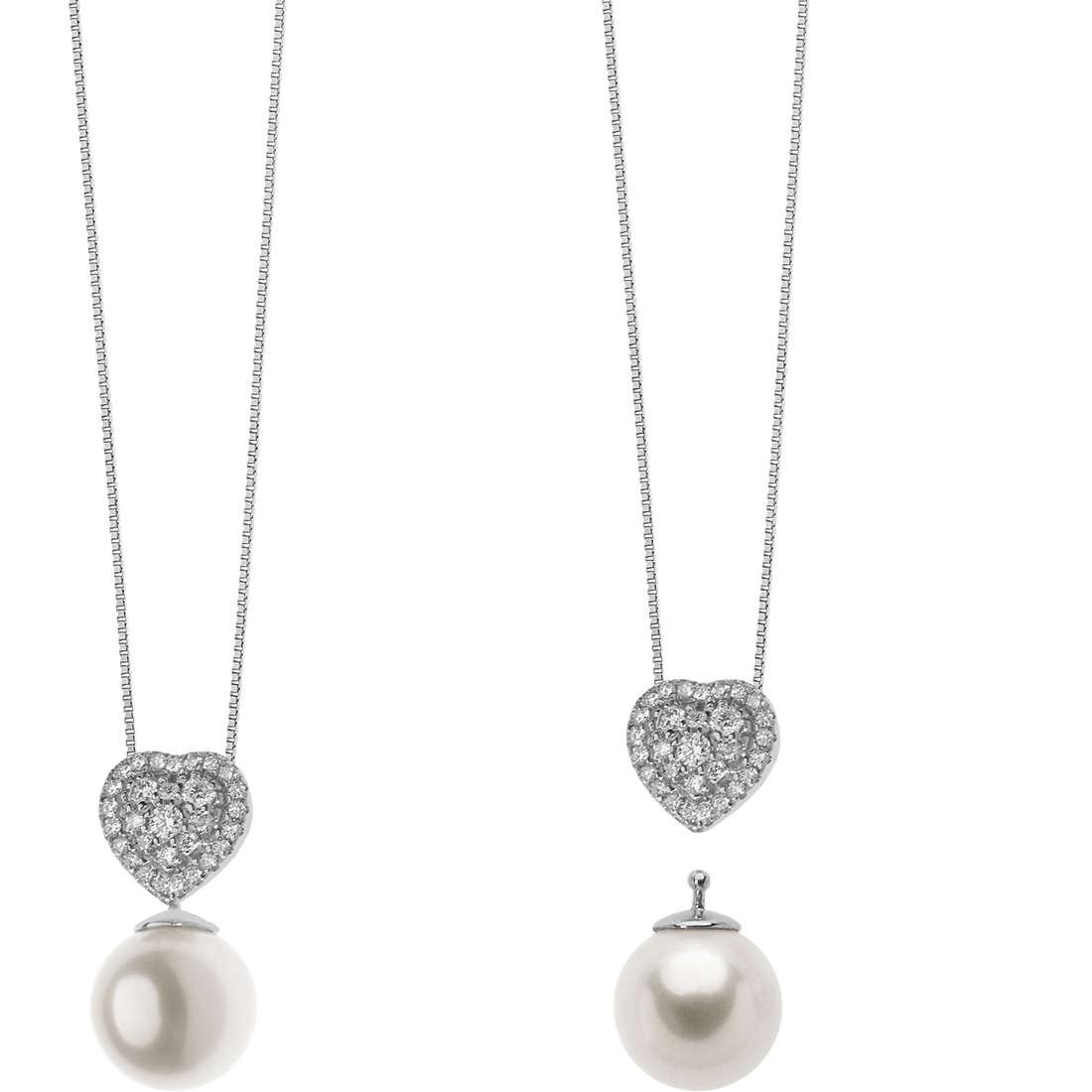 collana donna gioielli Comete Bianca GLP 514