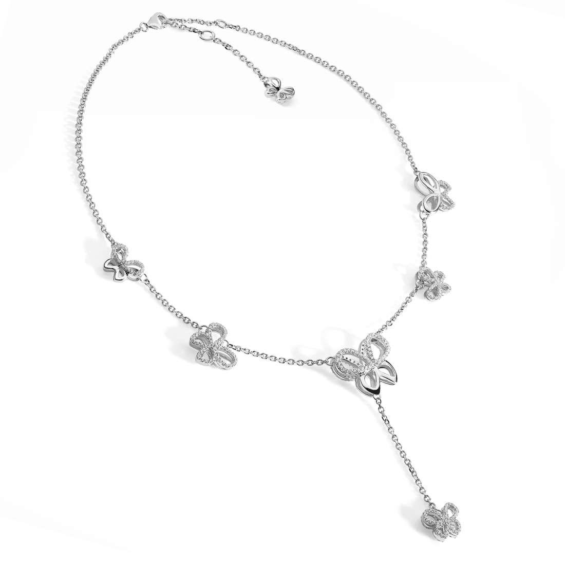 collana donna gioielli Comete Farfalle GLA 130