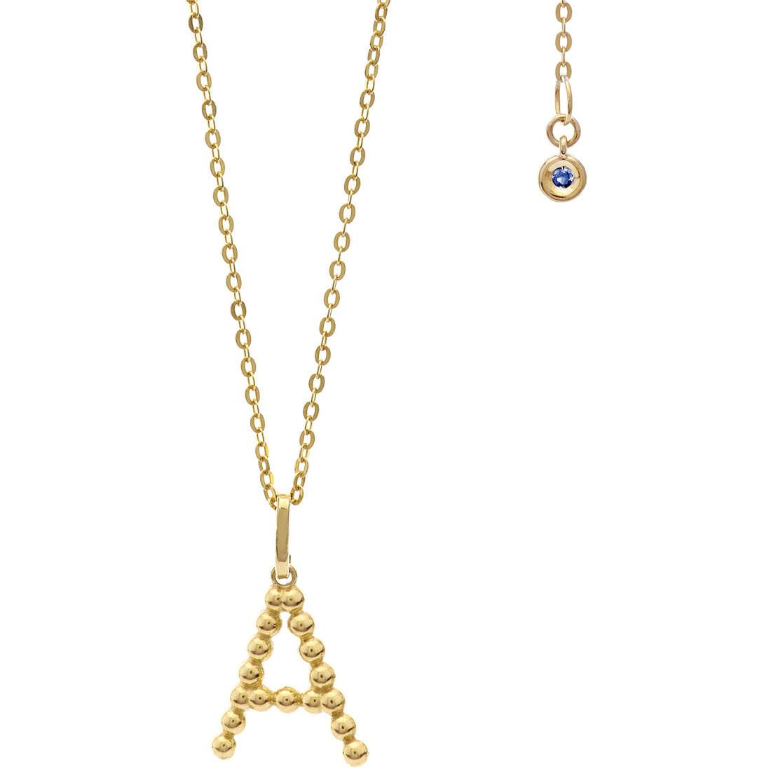 collana donna gioielli Comete Letterine GLB 1050