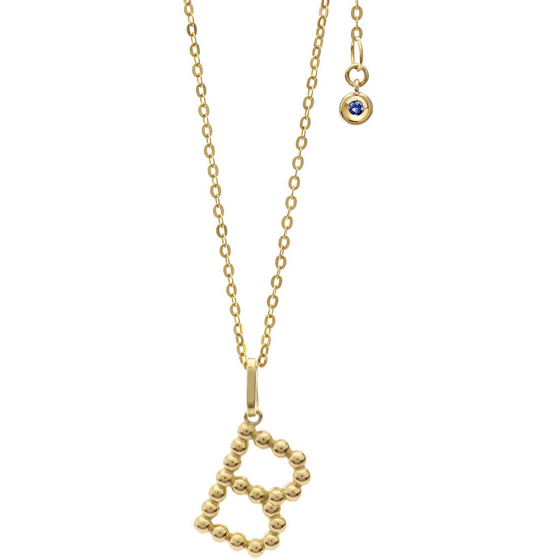 collana donna gioielli Comete Letterine GLB 1051