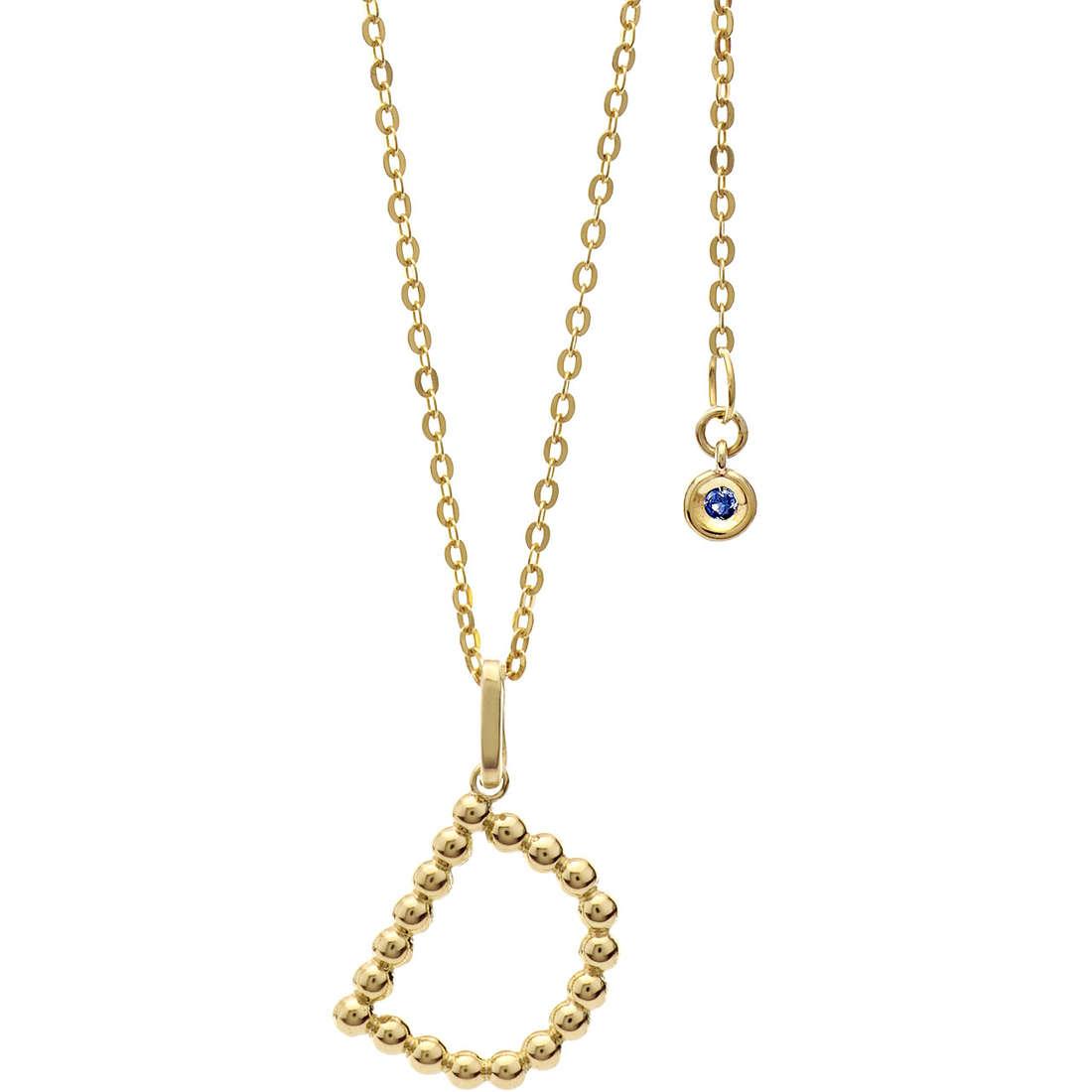 collana donna gioielli Comete Letterine GLB 1053