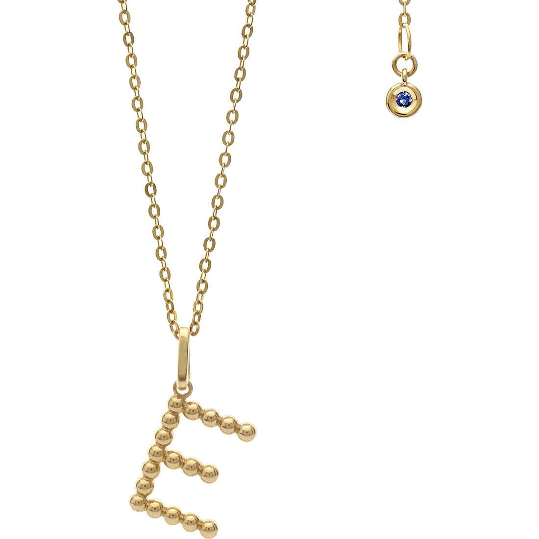 collana donna gioielli Comete Letterine GLB 1054