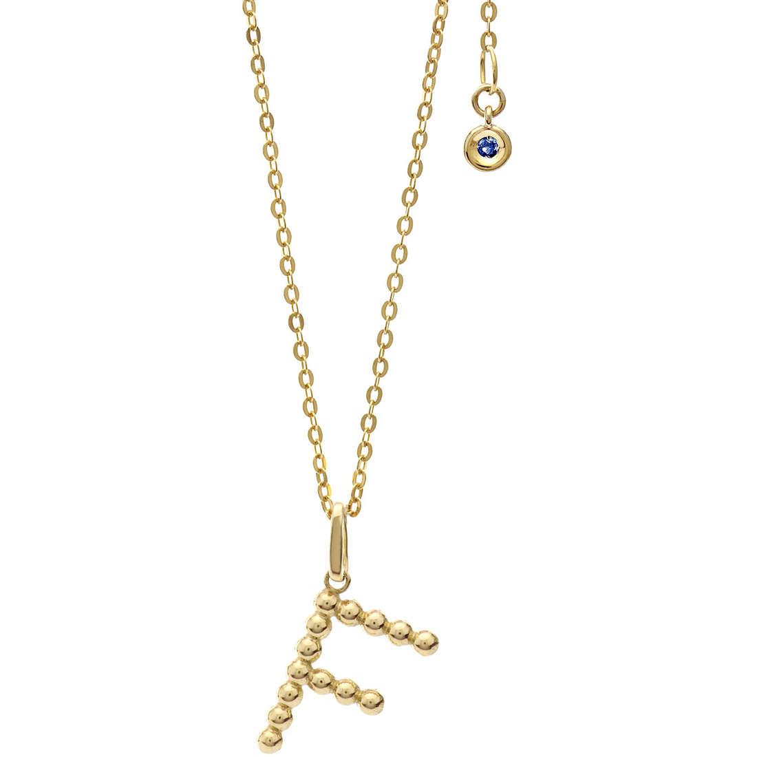 collana donna gioielli Comete Letterine GLB 1055