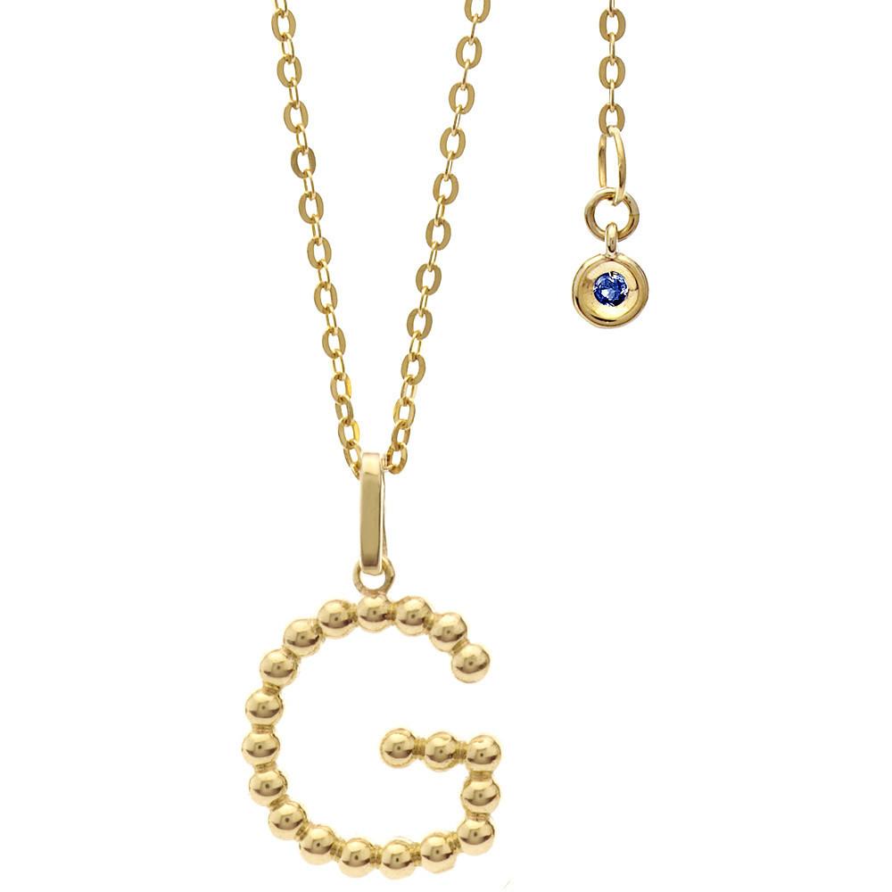 collana donna gioielli Comete Letterine GLB 1056