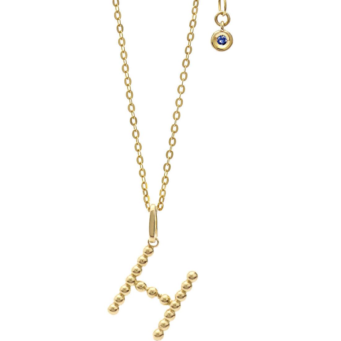 collana donna gioielli Comete Letterine GLB 1057